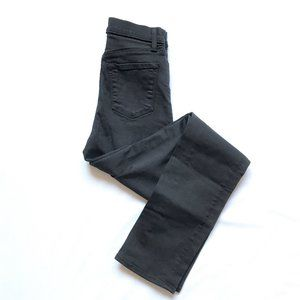 J Brand Maria Straight High Rise Black Jeans
